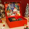 新款圣诞礼盒翻盖立体盒礼品盒平安夜苹果围巾保温杯包装盒定制
