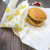 信雅一次性防油淋膜纸汉堡包鸡肉卷纸餐盘托盘垫纸食品包装牛皮纸