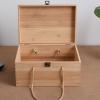 竹木盒定制竹木收纳盒翻盖竹木礼品盒竹木茶叶盒精油盒干果包装盒