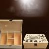 针线盒套装定做家用多功能木质针线收纳盒缝纫线便十字绣结婚嫁妆