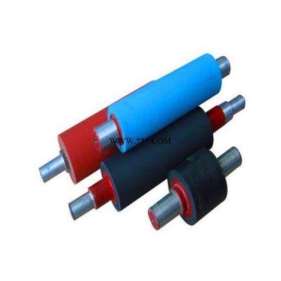 矿山机械胶辊 过线辊  胶辊 裱纸机胶辊 聚氨酯包胶轮 覆膜机胶辊 不干胶印刷辊