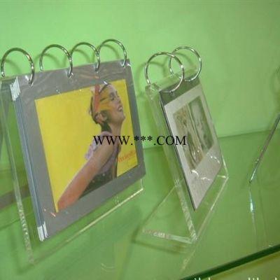 透明T型亚克力翻页台卡台牌桌牌 活页菜单牌架相框架台历架展示牌