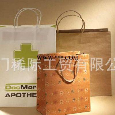 **牛皮纸袋 热卖牛皮纸手提袋 **铜版纸购物袋