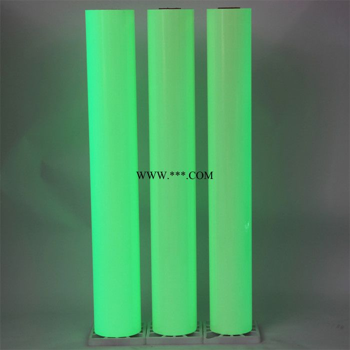PVC喷绘印刷夜光膜 PET绿色发光膜 蓄光发光材料