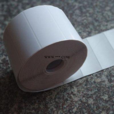 定做空白卷筒不干胶  厂价直销条码打印纸 标签纸 格拉辛铜板纸 条码纸