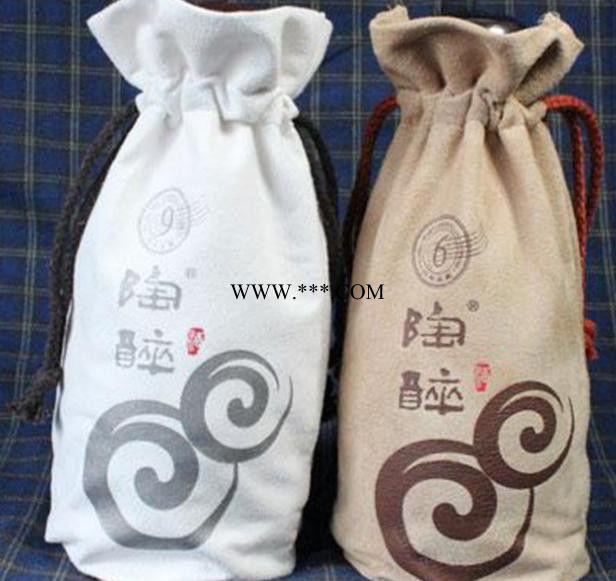 绒布红酒包装袋