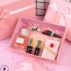粉色长方形礼盒天地盖蝴蝶结礼品盒口红香水包装盒现货丝巾盒子