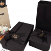 创意黑色蝴蝶结礼品盒定制折叠礼盒大号礼物长方形盒子印刷包装盒