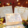 新款圣诞节天地盖礼盒围巾苹果包装盒 圣诞节平安夜礼品盒批发