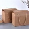 现货供应 空白开窗瓦楞牛皮纸包装盒年货炒米蛋糕饼干包装礼品盒