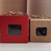现货创意礼品牛皮纸瓦楞盒 茶叶包装盒正方形糖果盒 可加印logo