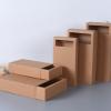 牛皮纸盒定做 黑卡白卡纸抽屉盒 茶叶包装礼盒内衣礼品纸盒现货