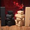黑色饰品通用包装纸盒牛皮纸天地盖首饰礼品盒圣诞节装饰包装定制