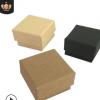 促销现货5*5*3牛皮纸戒指盒 黑牛皮纸盒耳钉包装盒可定制尺寸logo