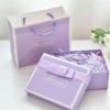 粉色丝带包装盒 天地盖礼品盒 创意情侣小礼物 含手提袋 可定制