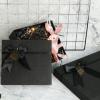 现货黑色蝴蝶结生日大礼盒定制正方形情人节礼品盒口红礼盒