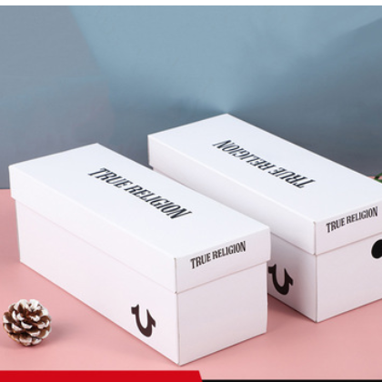 厂家直供 纯色天地盖白色方形收纳盒 英文logo水杯包装盒