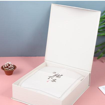 创意款古风翻盖式礼品包装盒 松下客国画装饰时尚伴手礼盒