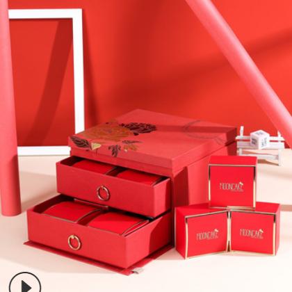 中秋月饼礼品盒定制翻盖双层喜糖盒礼品盒酒盒彩印包装盒印logo
