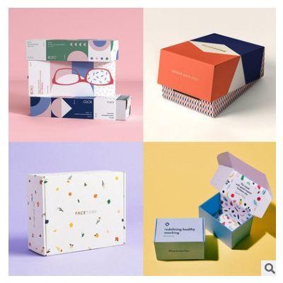彩色包装卡盒定制正方形彩盒单面印刷覆膜工艺镭射金银卡纸包装盒