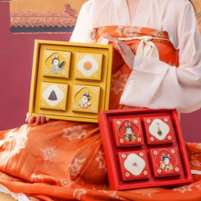 月饼礼盒空盒高档手提新款传统红色创意中秋节月饼包装盒子商用