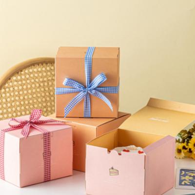 生日蛋糕盒 七夕情人节惊喜创意4寸蛋糕盒包装盒西点烘焙包装盲盒