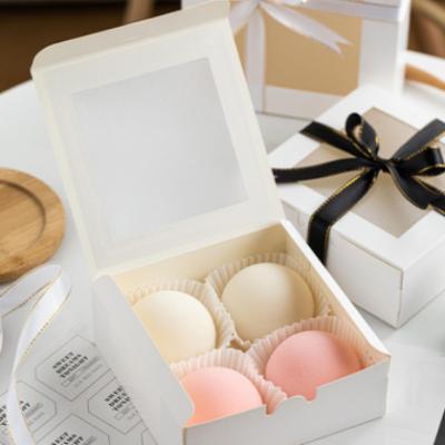 雪媚娘月饼包装盒 4粒6粒装泡芙蛋黄酥甜品高档烘焙 包装礼盒10只
