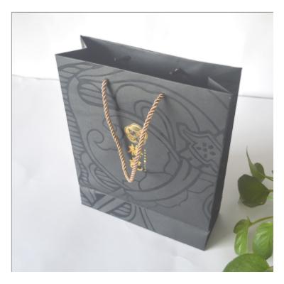 高档手提黑色茶叶礼品包装盒 服装购物袋 茶叶通用包装盒可定制