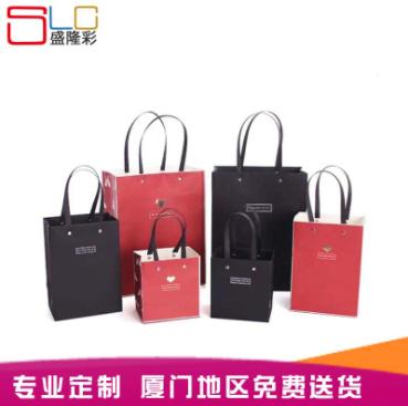 定制手提袋印刷LOGO外卖牛皮纸手提袋 牛皮纸手提袋服装购物袋