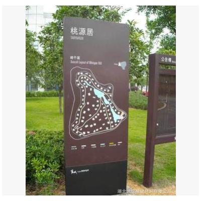 景区总指示|平面地图鸟瞰图|公园导示|仿木纹钢结构标识牌|加工厂