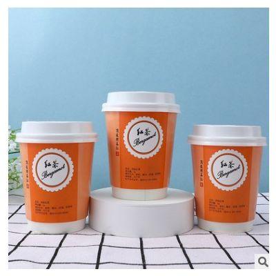 厂家批发自带茶叶杯一次性茶杯铝箔双层杯 品尝分享杯可加印logo