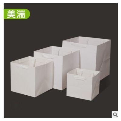方形牛皮纸礼品袋花店包装礼盒印刷广告logo牛皮纸礼品包装手提袋
