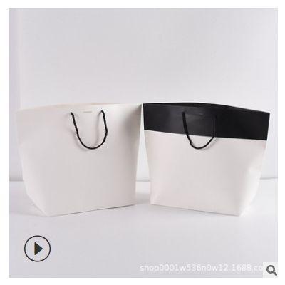 现货服装船型手提纸袋定 做棉绳手提牛皮纸袋礼品袋可加印logo