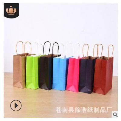 服装手提纸袋定 做广告购物牛皮纸袋定 制白卡手提礼品袋印刷lo