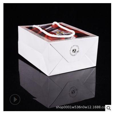 现货服装手提纸袋定做广告购物纸袋定制白卡礼品牛皮纸袋印刷logo