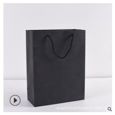 厂家现货批发空白牛皮纸袋定 做礼品袋服装购物袋手提纸袋定 制