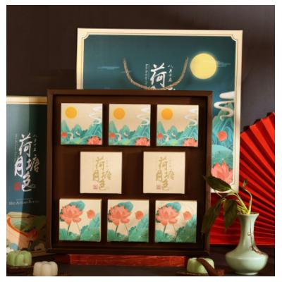 2021新款国潮8粒中秋月饼礼盒 创意月饼礼品盒 定制logo厂家现货