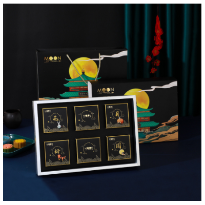高档中秋月饼包装盒批发蛋黄酥手提月饼盒直供6颗8粒月饼包装盒
