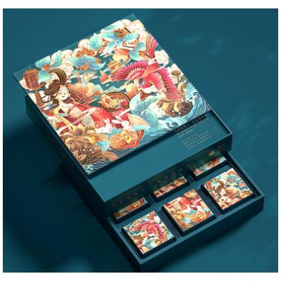 月饼包装盒定制中秋礼盒空盒子酒店创意国潮风礼品盒印刷彩印logo