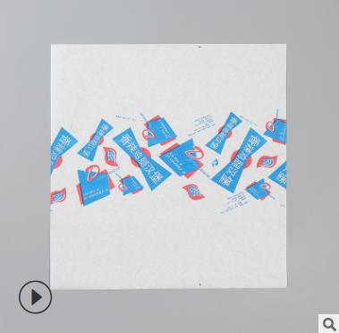 一次性烘焙用淋膜防油纸正方形鸡肉卷包装纸三明治汉堡纸可定制