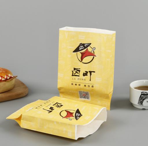 厂家定做淋膜防油尖底袋卤味烧烤外卖打包袋彩印广告小吃打包袋