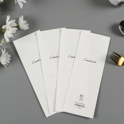 工厂定做一次性刀叉包装袋三边封平口包装袋西餐餐具扁平纸袋定制